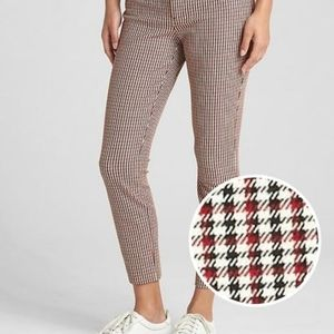 Gap Signature Skinny Ankle Houndstooth Tall 6